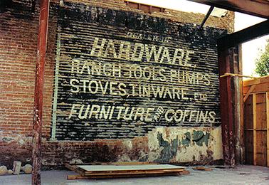 Hodnett Hardware sign 1990 (a) 76dpi