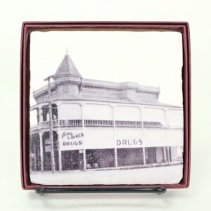 Coaster with image of Laird and Dines building