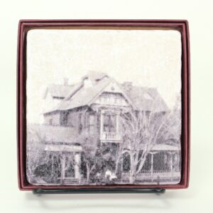 Coaster with picture of historic Petersen House