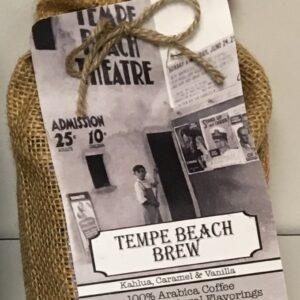 burlap bag of coffee - Tempe Beach Brew